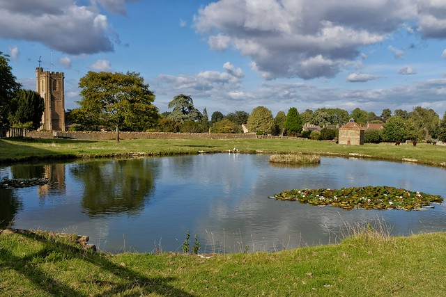 Saint Catharine's Church and the Pond, Montacute.