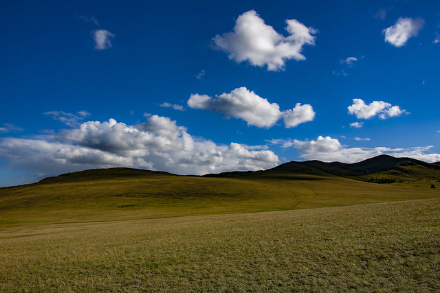 Mongolian Plains & Clouds