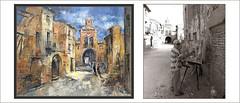 BELCHITE-PINTURA-CONCURSO-PAISAJES-ZARAGOZA-HISTORIA-GUERRA CIVIL-ESPAÑA-FOTOS-PINTANDO-MONUMENTOS-RUINAS-ARTISTA-PINTOR-ERNEST DESCALS