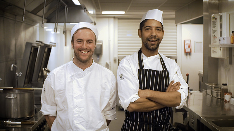 Two chefs in the kitchen
