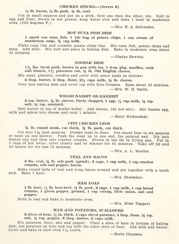 Methodist Ladies' Aid Cook Book 1940