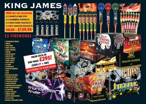 NEW FOR 2019 - King James 1.3G Consumer Fireworks Pack