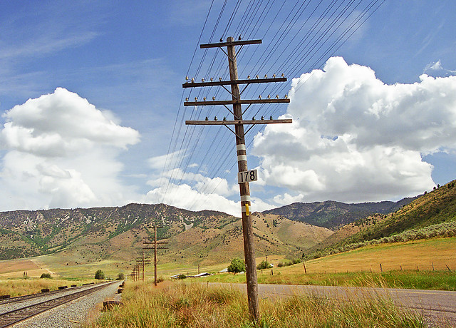 Union Pacific Pole Line, Lava Hot Springs, Idaho