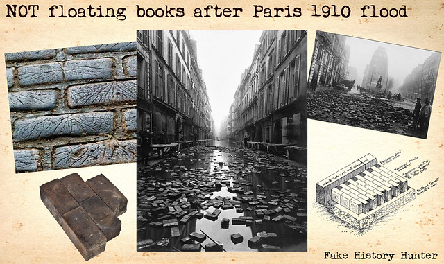 NOT floating books after Paris 1910 flood
