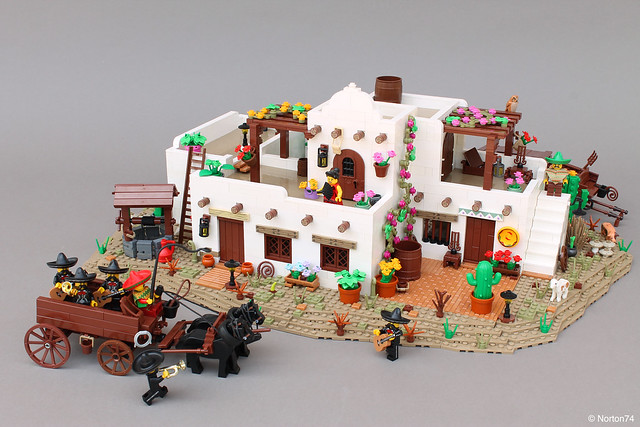 LEGO Mariachi Band Mexican House Adobe Southwestern Architecture
