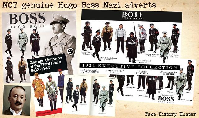 NOT genuine Hugo Boss Nazi adverts