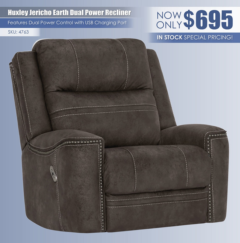 Huxley Jericho Earth Dual Power Recliner_Instockspecial_4763
