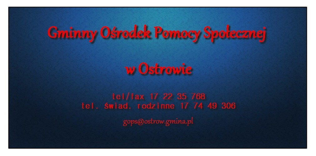 Gminny Ośrodek Pomocy Społecznej w Ostrowie