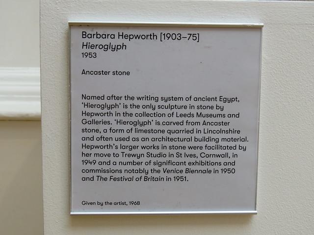 Hieroglyph by Barbara Hepworth, Leeds Art Gallery 2019