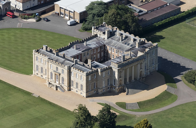 Aerial image of Kimbolton Castle - School in Cambridgeshire UK