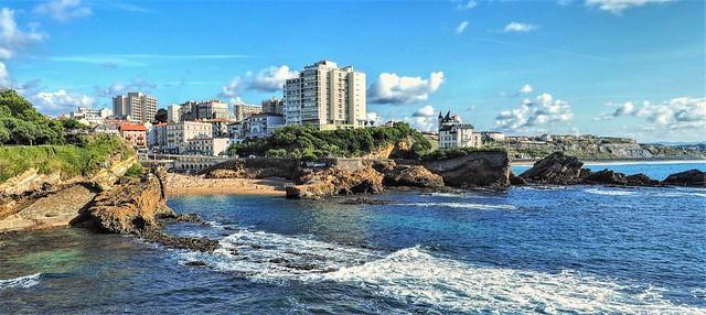 Biarritz. La Plage du Port Vieux.