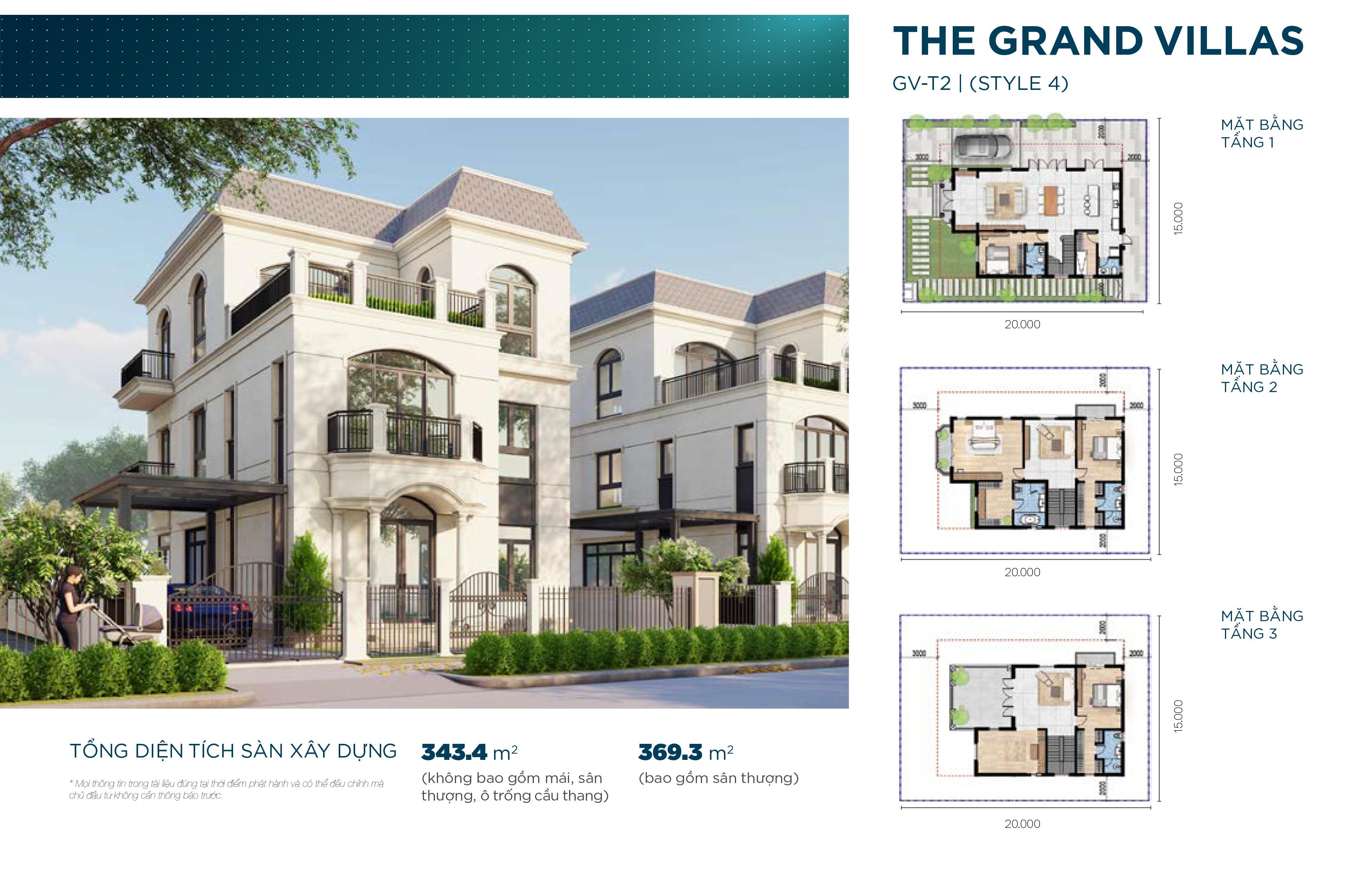 Mẫu biệt thự The Grand Villas đẳng cấp dự án Aqua City