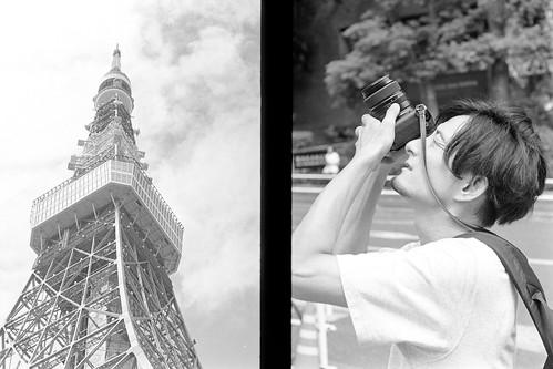 東京タワーとフォトグラファー