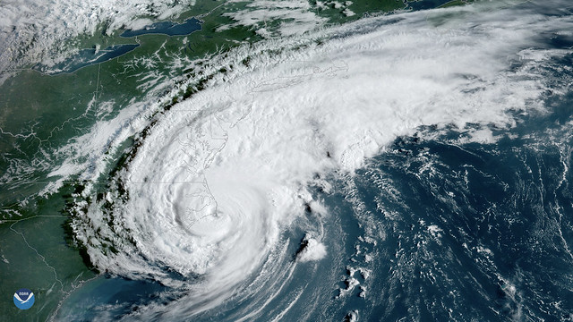 GOES East Sees Dorian Moments Before Making Landfall Over Cape Hatteras, NC