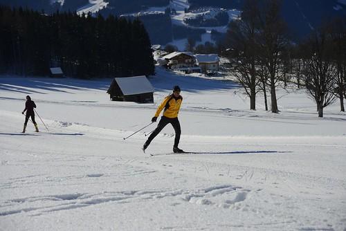 Ramsau am Dachstein, na běžky vRakousku