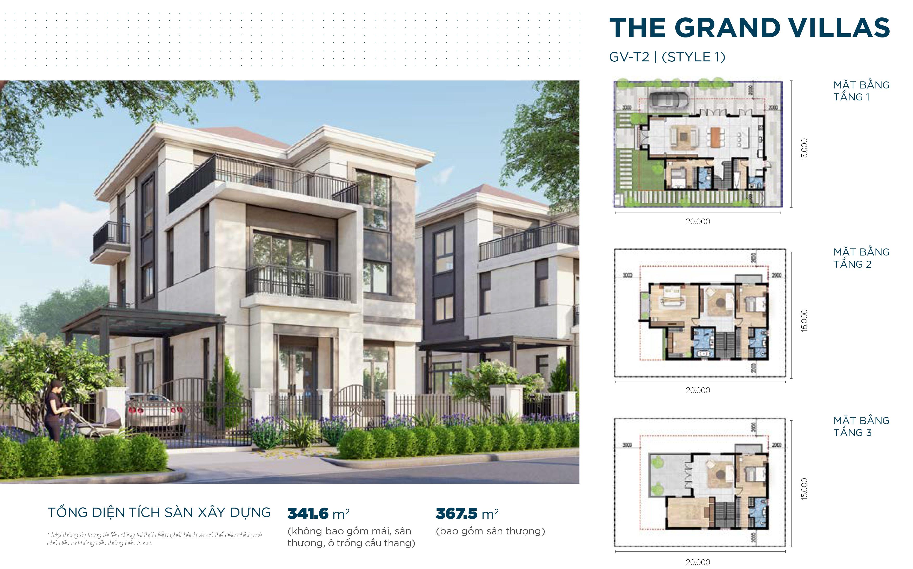 Mẫu biệt thự đẳng cấp The Grand Villas dự án Aqua City