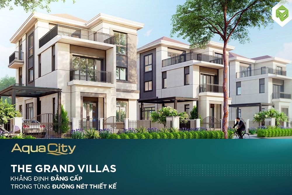 Mẫu biệt thự The Grand Villas đẳng cấp tại Aqua City