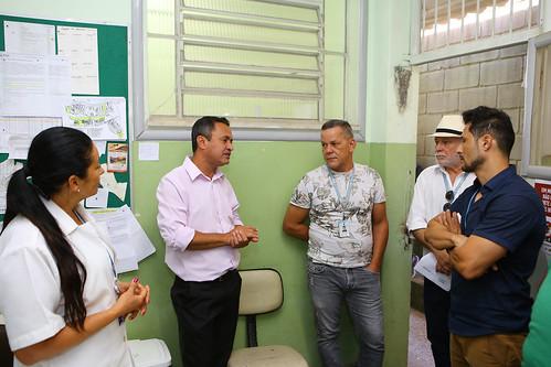 Visita técnica para averiguar as condições de funcionamento do Centro de Saúde Vila Pinho - Comissão de Saúde e Saneamento