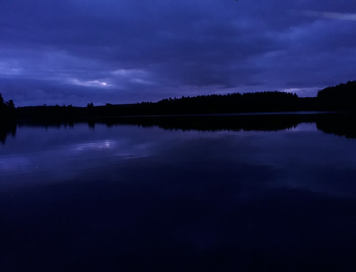 night dawn blue lake calm water thebluehour peaceful devon earlymorning beforesunrise
