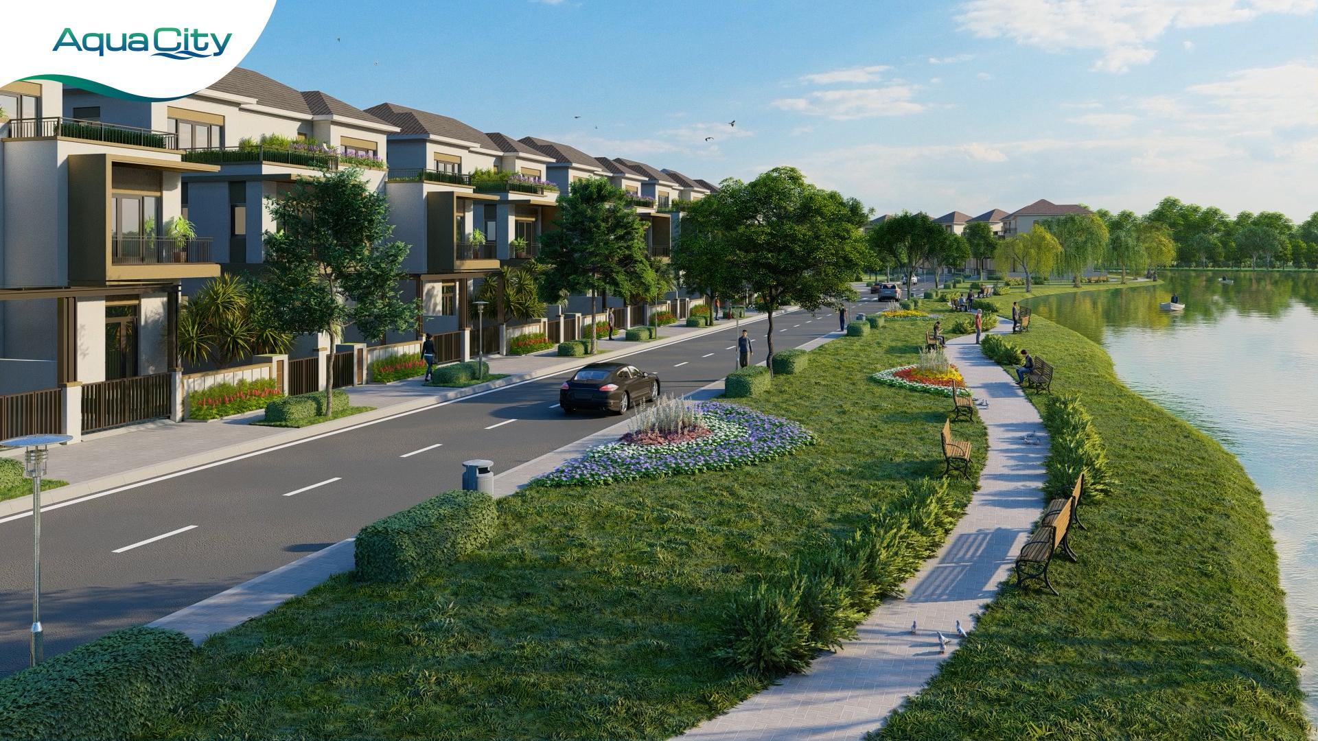 Kiến trúc xanh được quy hoạch đồng bộ tại Aqua City