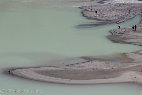 Detail of Lake Silvretta where River Flows into it | by Andre Hauschild