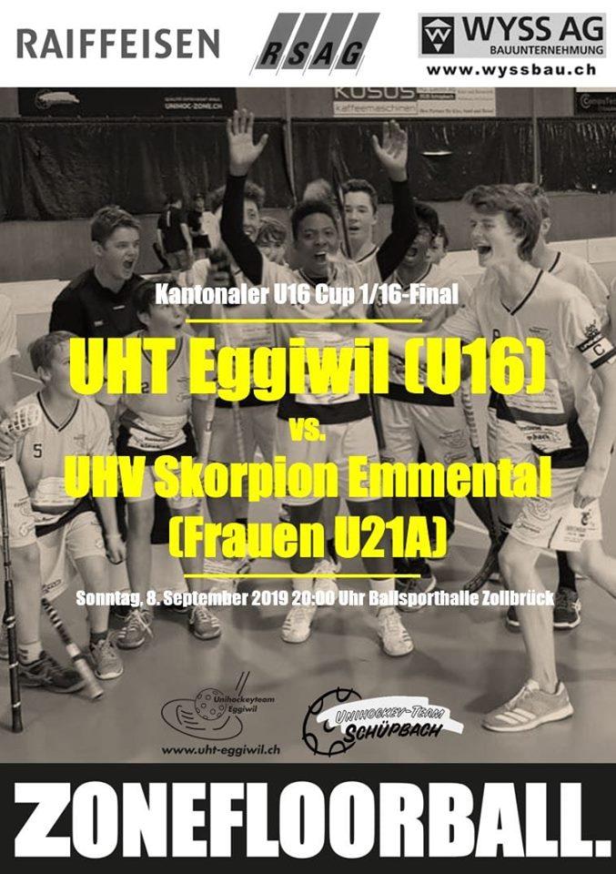 Junioren U16B - UHV Skorpion Emmental Bern Cup 1/16-Final Saison 2019/20