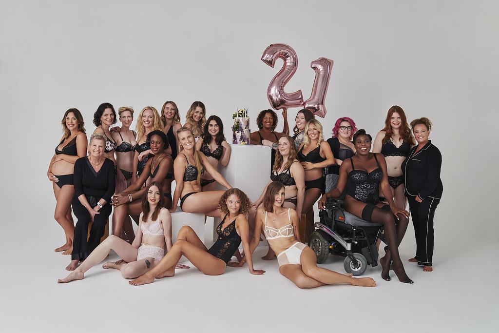 Figleaves 21st Birthday photo shoot - Group by Eva Schwank