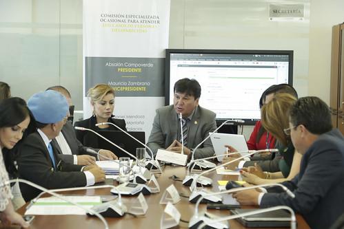 SESIÓN DE LA COMISIÓN OCASIONAL PARA ATENDER LOS CASOS DE PERSONAS DESAPARECIDAS.  QUITO,  10 DE SEPTIEMBRE DEL 2019