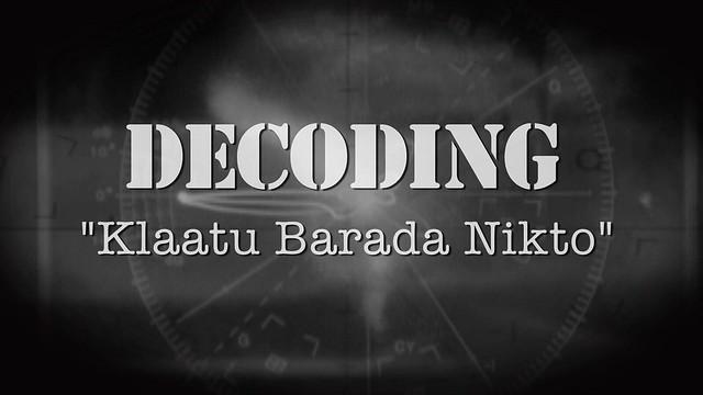 Klaatu Barada Nikto - Decoding