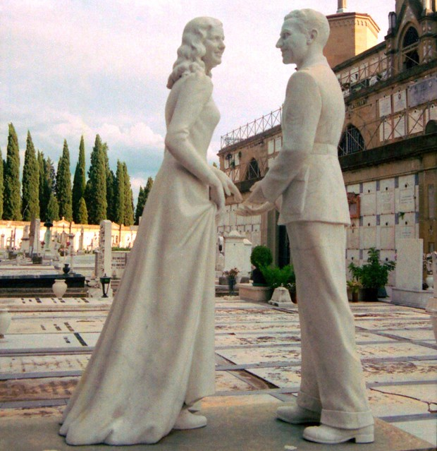 1993 Stone Couple Cemetery Florence Italy 1990