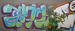 Graffiti green splodge