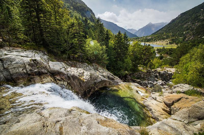 Cascada del Sant Esperit y Estany de Llebreta