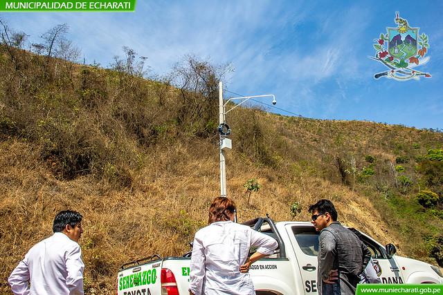 Municipalidad de Echarati instala cámaras de videovigilancia en capital del distrito