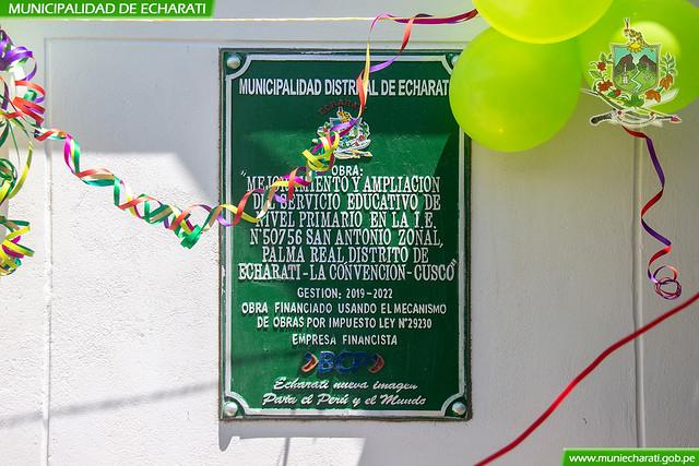 Inauguración de moderna infraestructura educativa en San Antonio - Palma Real