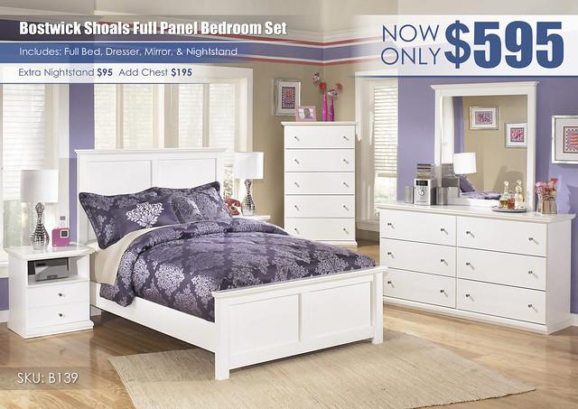 Bostwick Shoals Full Panel Bedroom Set_B139-31-36-46-87-84-86-91-SD