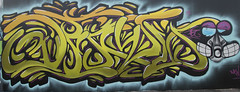 Graffiti dragon Humber Bridge Eyes