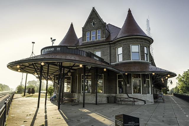 Durand Union Station porch