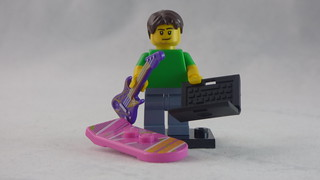 Brick Yourself Custom Lego Figure - Happy Guy with Guitar, Laptop & Hoverboard | by BrickManDan