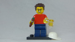 Brick Yourself Custom Lego Figure - Happy Artist with Beer | by BrickManDan