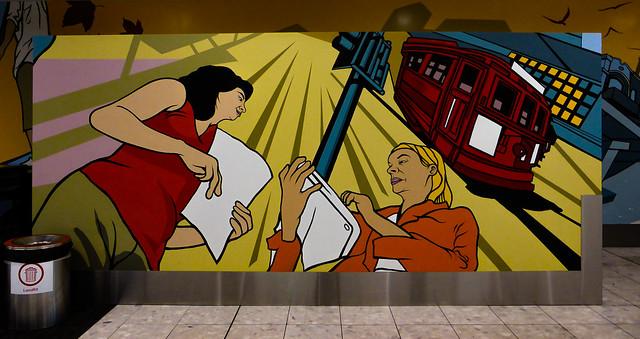 A Mural at Christchurch Airport
