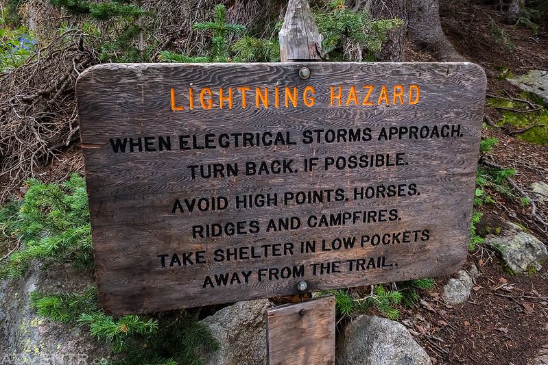 Lightning Hazard Sign
