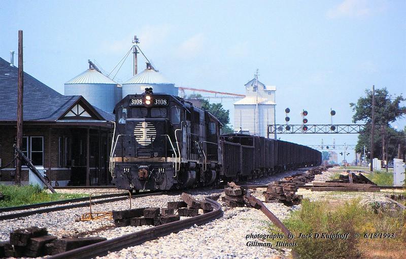 IC 3108-3110 sb Gillman, IL. 6-18-1993