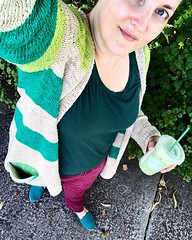 Wore a bunch of green then accidentally got a green drink over lunch... it was actually quite easy to be this green. [253/365]