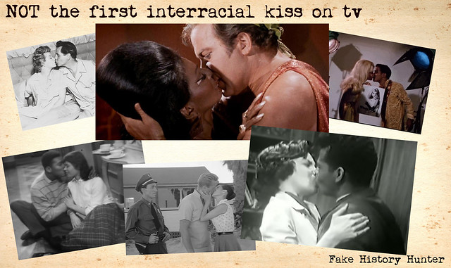 Not the first interracial kiss on TV