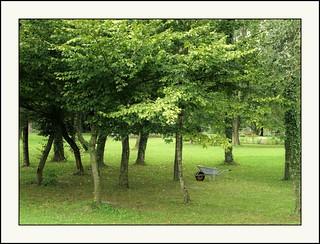 Innviertel - vergessen im Park der Anlage der Unbarmherzigen Brüder in Schärding