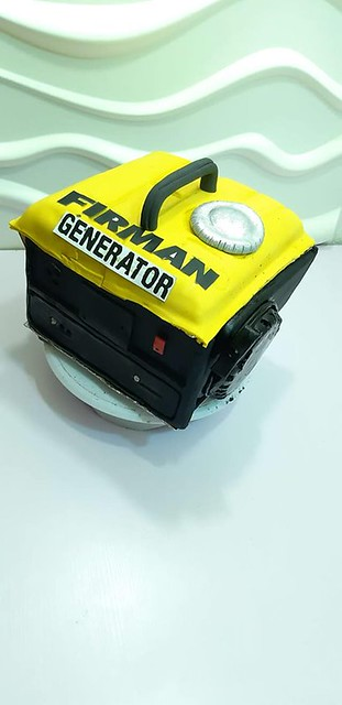 Generator Themed Cake by Progress Oghenechovwiere Adjuya