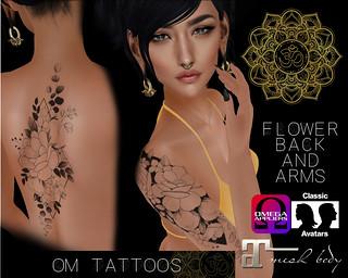 ::: UPDATE ::: ++ OM TATTOOS ++ Geometric Flowers