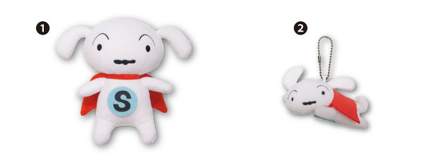 超級小白英雄來襲!《蠟筆小新》獨立動畫《SUPER SHIRO(スーパー シロ)》推出 36 cm大型小白絨毛布偶