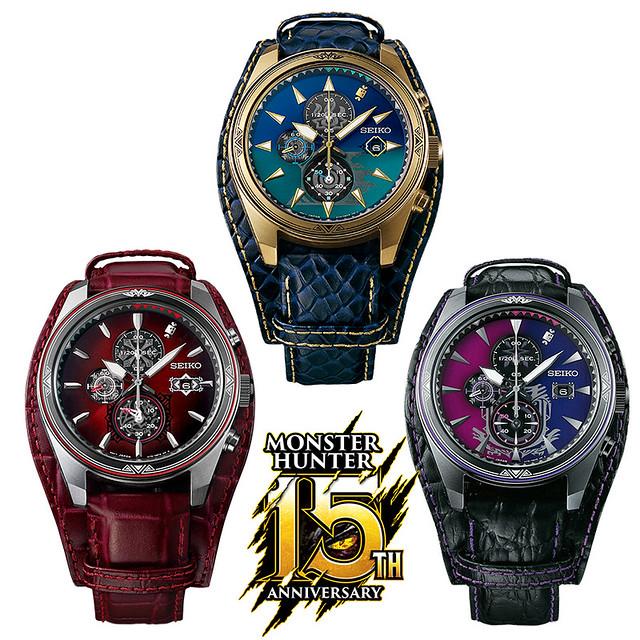 真獵人的終極飾品!CAPCOM《魔物獵人》15 周年紀念手錶(モンスターハンター15周年 コラボレーションウォッチ)