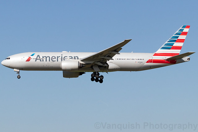 N753AN American Airlines B777-200 Amsterdam Schiphol